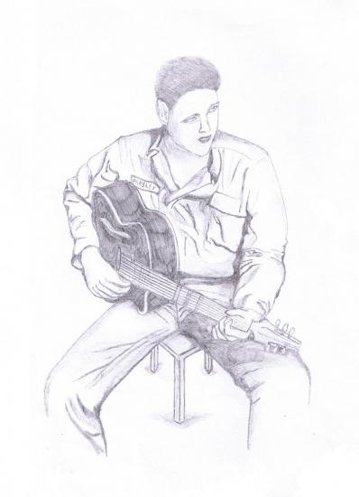 Elvis Presley by borellis